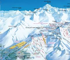 Piste Maps For Italian Ski by La Rosière Piste Map J2ski