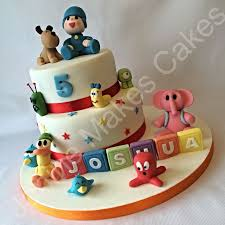 pocoyo cake toppers 26 best cakes images on cake ideas purple roses