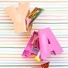 make letter shaped boxes from scratch if you can work a glue