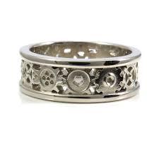 gear wedding ring rings for him swank metalsmithing