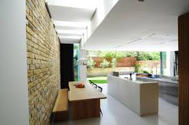 dining table kitchen open plan modern home in london by bureau