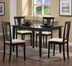 amazon com coaster 5pc casual dining table and chairs set in