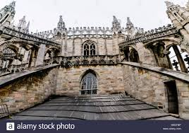 flying buttress flying buttress and ornately carved stonework on the roof of the