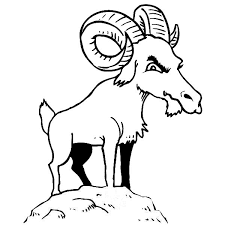 Mountain Goat Is Not Happy Coloring Pages Color Luna Happy Coloring Pages
