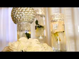 Dollar Store Vase Centerpiece Diy Dollar Tree Wedding Bling Centerpieces Youtube