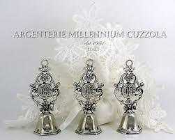silver bells favors communion host baptism confirmation