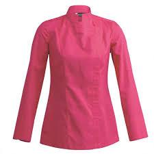 vetement de cuisine femme veste de cuisine femme sienne fushia vêtements de travail et