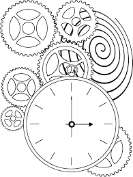 Grandpa Clock Clock Face Coloring Page Getcoloringpages Com