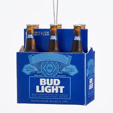 budweiser bud light 6 pack miniature ornament kurt s adler