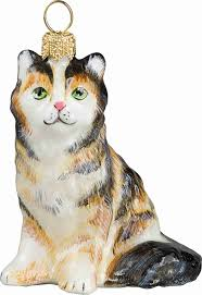 glitterazzi maine coon cat ornament
