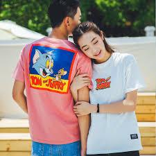 brand 2016 summer cartoon tom jerry pattern couple