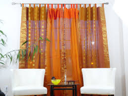Raw Silk Drapery Panels by Indian Cotton Silk Curtains Drapes French Window Ethnic Custom