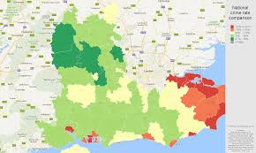 Crime Rate Map South East England Violent Crime Statistics In Maps And Graphs