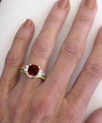 white gold engagement ring yellow gold wedding band cushion cut garnet engagement ring in 14k yellow gold with