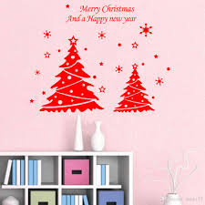 wholesale diy new year christmas doubles tree wall decor merry