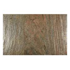 faststone copper 12 in x 24 in slate peel and stick wall tile