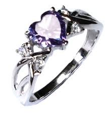 engagement rings awesome vintage amethyst amethyst purple heart shaped promise ring heart promise rings