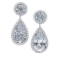dimond drop pear shaped brilliant diamond drop earrings martin katz