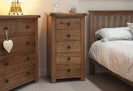 Unfinished Pine Bedroom Furniture by Furniture Rustic Oak Bed With Slats Headboard And Tall Nightstand