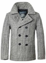 winter coat brandit pea coat grey