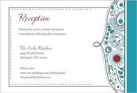 reception card whimsical reception card wedding enclosure cards
