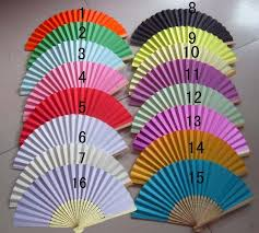 wedding fans favors wedding favors gift single side paper folding fan