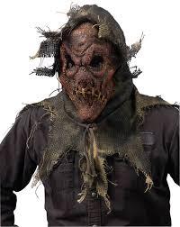 scary scarecrow halloween costume gunny sack scarecrow mask red animal