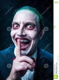bloody halloween theme crazy joker face stock photo image 76787339