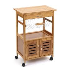 marston natural wood wooden outdoor garden kitchen storage trolley