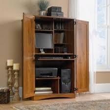 Computer Hutch Desks With Doors Computer Armoire With Pocket Doors Foter