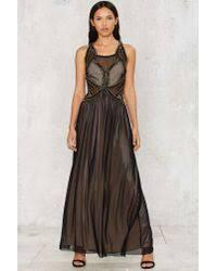 nasty gal petra beaded maxi dress in black lyst