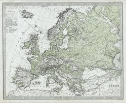 Physical Maps File 1862 Stieler Physical Map Of Europe Geographicus