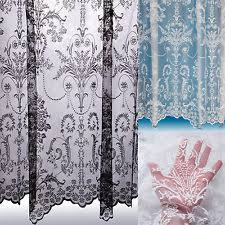 Cream Lace Net Curtains Lace Voile Curtains Ebay