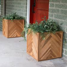 square solid wood lexington planter box hayneedle