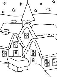 house of winter coloring pages for kids christmas coloring pages