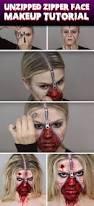 Halloween Makeup Faces Ideas by Best 25 Zipper Face Halloween Ideas On Pinterest Zipper Face