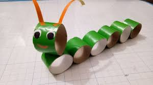 crafts caterpillar with paper roll diy for kid fun kids crafts diy