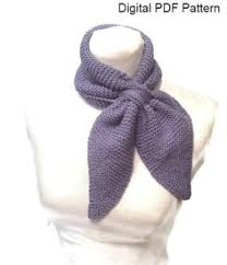 knitting pattern bow knot scarf free pattern 1930 s knitting bow knot or tuck in scarf try