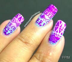 preciouspearlmakeup aztec nail art
