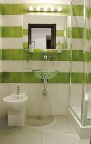green stripe small bathroom ewdinteriors