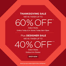 saks fifth avenue clothing accessories thanksgiving sale