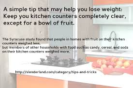 a simple tip that may help you lose weight clear your kitchen