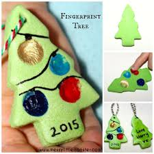 salt dough fingerprint christmas tree messy little monster