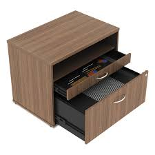 Walnut Lateral File Cabinet by Alera Open Office Series Low File Cabinet Credenza By Alera