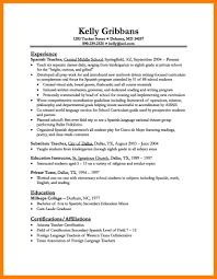 tutor resume examples spanish teacher cover letter chemistry student resume