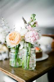 spring flowers flowers in jars wedding inspiration hurry up