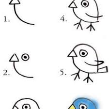 easy way for kids to draw a bird more simple drawing how drawings