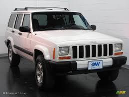 jeep cherokee white 2001 stone white jeep cherokee sport 4x4 17266792 gtcarlot com