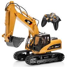 bruder excavator top race 15 channel remote control rc fork excavator