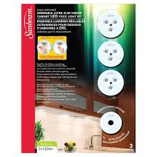 Dimmable Led Puck Lights Led Dimmable Under Cabinet Puck Light Kit 3 Pack Rona